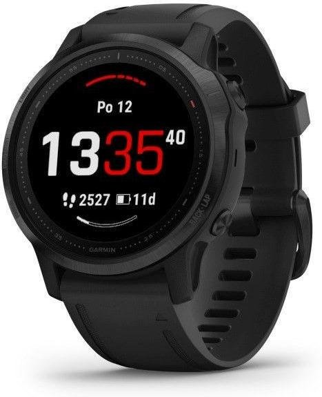 Uhren Garmin Garmin fenix6S PRO Glass, Black/Black Band (MAP/Music)