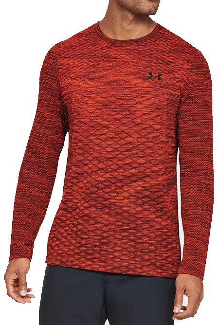 Langarm-T-Shirt Under Armour Vanish Seamless LS Novelty-RED