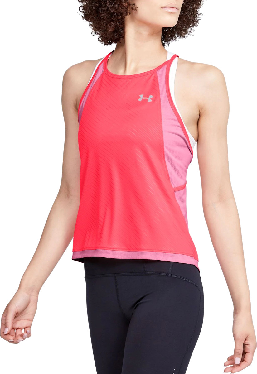 Singlet Under Armour W UA Qualifier ISO-CHILL Embossed Tank