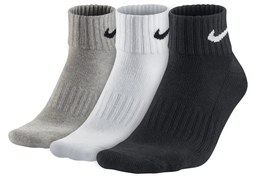 Socken Nike 3PPK VALUE COTTON QUARTER S,M